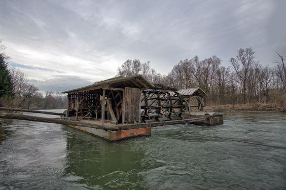 Floating water mill, Veržej, Slovenia | Flickr - Photo Sharing!