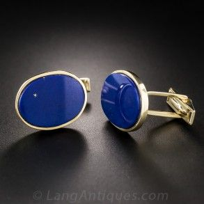 Estate Lapis Lazuli Cufflinks