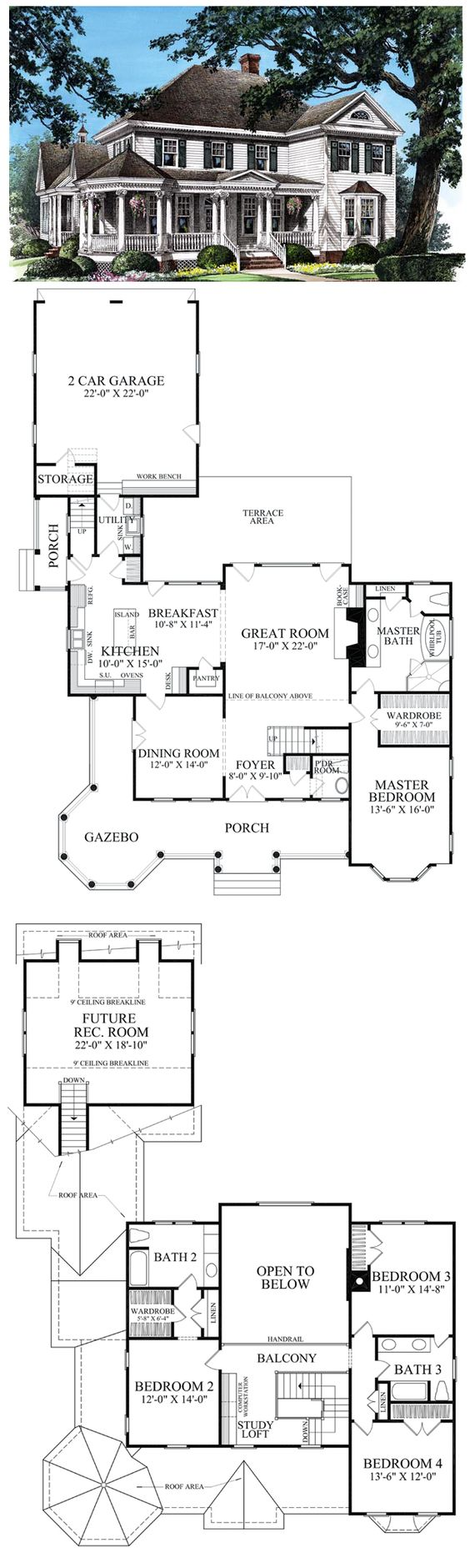 Colonial farmhouse southern victorian house plan 86280 for Two story victorian house plans