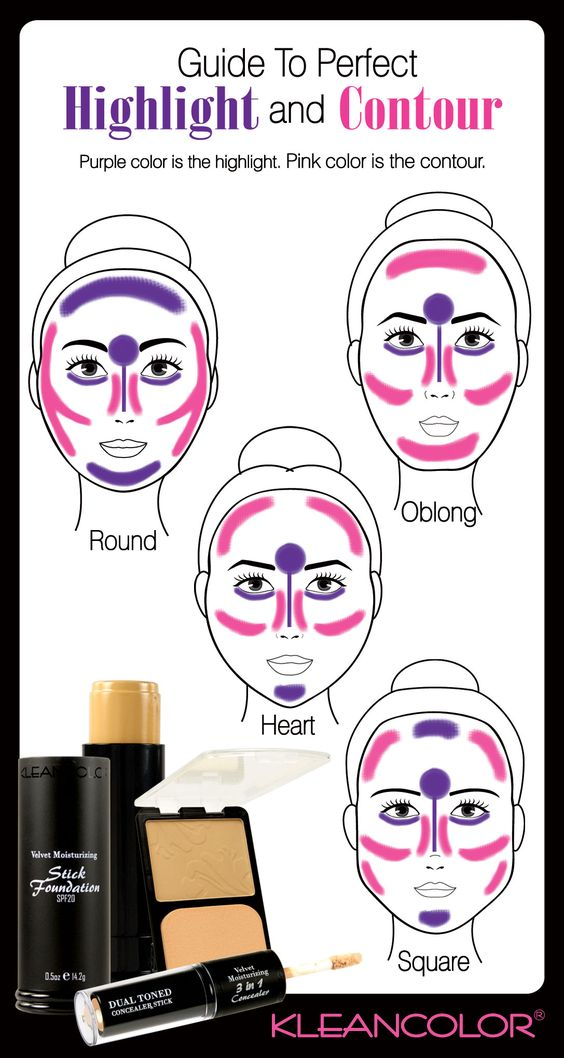 #Highlight and #contour like a Pro! What face shape do you have? SQUARE!