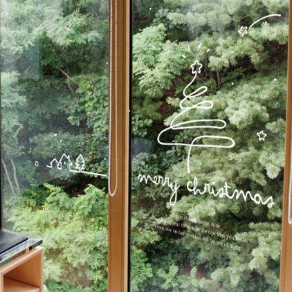 Furnishings wall stickers wallpaper christmas wall stickers decoration gift glass windows decal christmas tree(China (Mainland))
