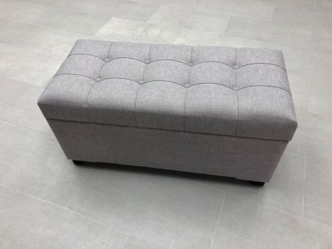Andes Storage Ottoman Grey Storage Ottoman Ottoman Grey Fabric