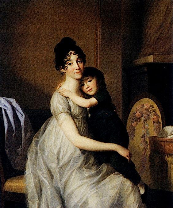 1802 Anne Pauline Dufour Ferance and Her Son by Friedrich Tischbein (Museumslandschaft Hessen Kassel, Kassel Germany):