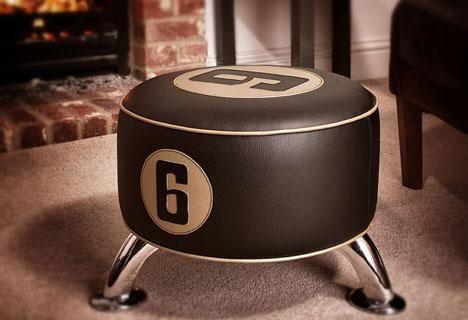 Vintage60 tillverkar bland annat pallar för att hedra legendariska bilförare.