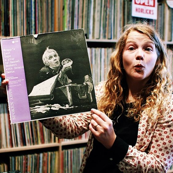 Spoken word wins out for rifling through Jon More of 's studio this week. Read about why she chose this record on our Facebook page