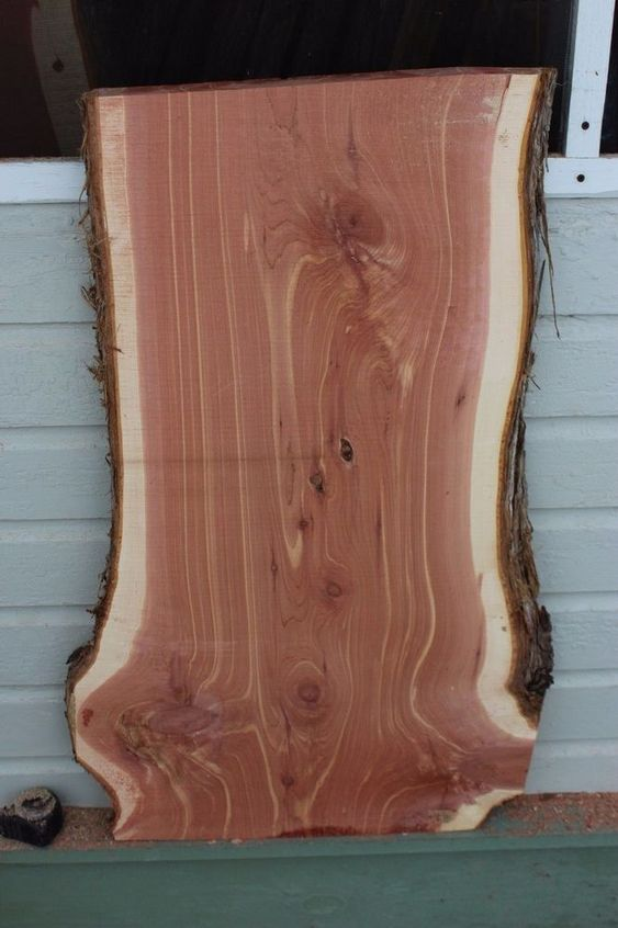 Rare large red cedar live edge wood slab plank lumber