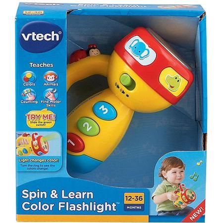 Amazon.com: VTech Spin and Learn Color Flashlight - Pink ...