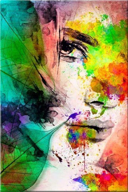 Kunstunterricht Wandbild Zum Malen Nach Zahlen Farben Der Weiblichkeit Kunstunterricht Kunstunterricht S In 2020 Moderne Kunst Bilder Bilder Leinwand Wandbild Abstrakt