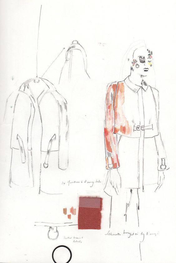 Fashion sketchbook - fashion design development; fashion sketches; fashion portfolio // Alexandra Baldwin