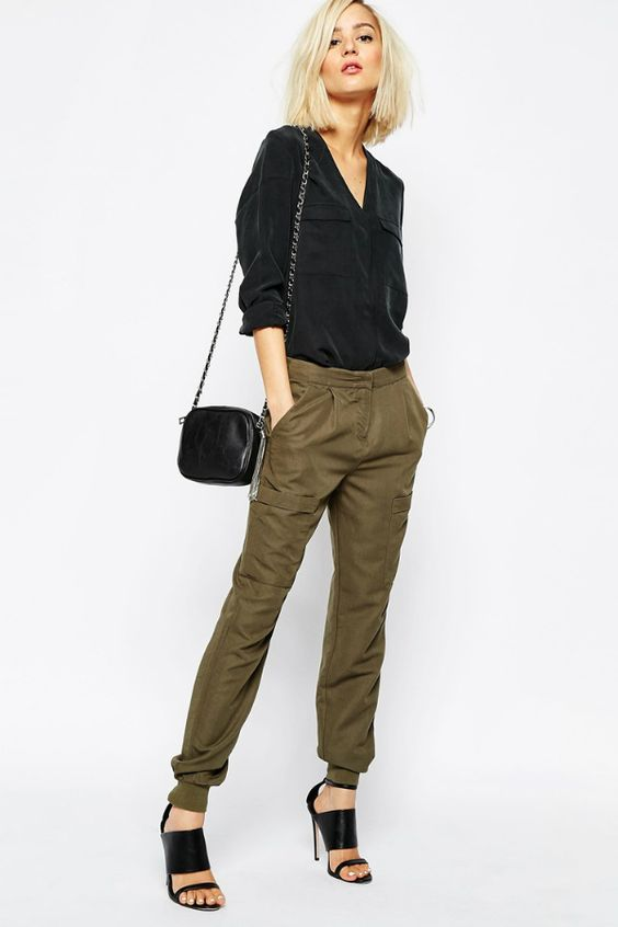 Pantalon kaki de Vero Moda : 60 pantalons qui font le printemps ! - Journal des Femmes