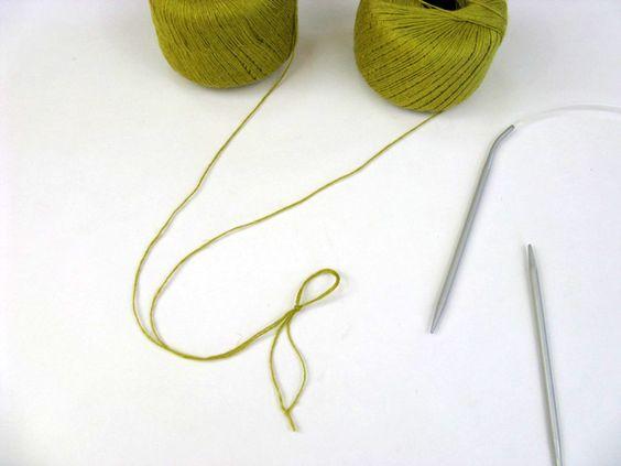 Como montar os pontos do tricô sem correr o risco do fio acabar.