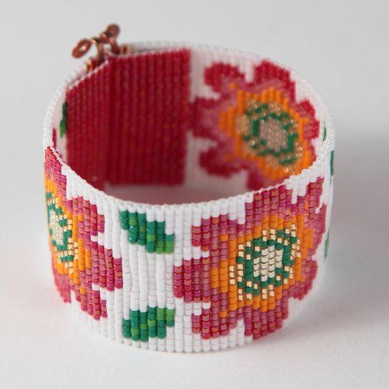 Posey Parker Bead Loom Bracelet Bohemian Boho Artisanal Jewelry Indian Western Beaded Tribal Southwestern Turquoise Brown Santa Fe by PuebloAndCo on Etsy https://www.etsy.com/listing/235136115/posey-parker-bead-loom-bracelet-bohemian