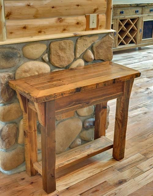 Pin On Table Console, Barn Wood Furniture Ideas