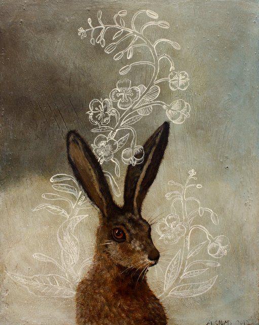anne siems, rabbit plant. juste l'air droit sorti d'un conte...