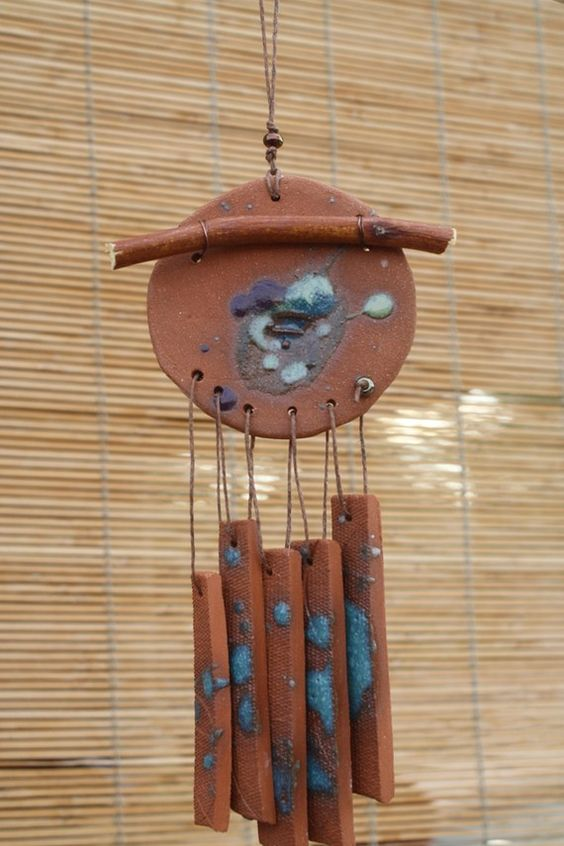 how to make wind chimes from clay pots