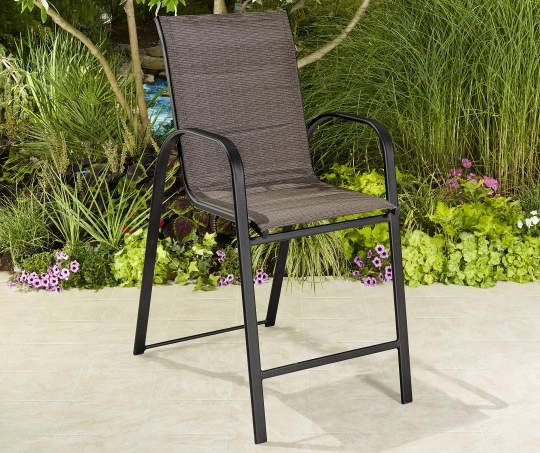 Excellent Aspen Padded Fabric Balcony Stack Chair Outdoor Balcony Machost Co Dining Chair Design Ideas Machostcouk