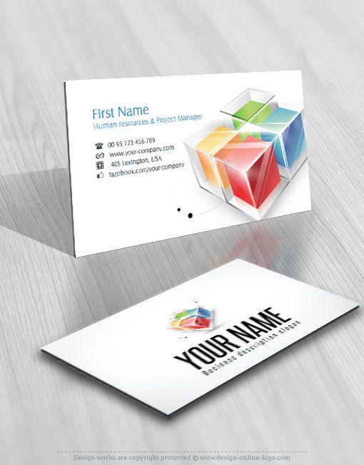Exclusive Design 3d Colorful Cubes Logo Compatible Free