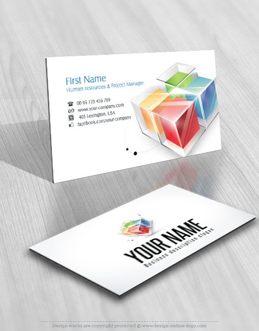 Exclusive Design 3d Colorful Cubes Logo Free Business Card Free Business Cards Business Card Design Logo Design
