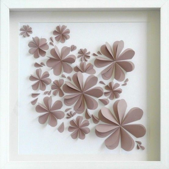 Paper flower wall decor pretty diy pinterest paper for Art and craft for wall decoration