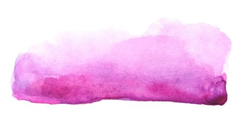 Watercolor Artistic Brush Stroke Isolated On White Background