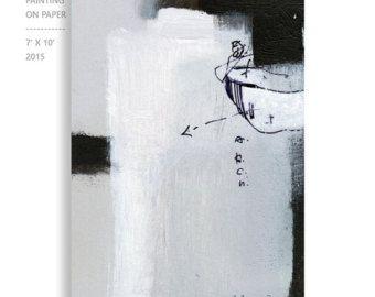 Gemälde auf Papier Originalgemälde kleine original by kuzennyArt