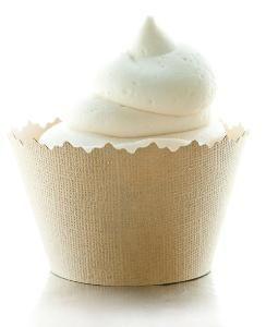 Glitter Creamy Ivory Pearl Sparkly Cupcake Wrappers, Liners & Decorations for Cupcakes