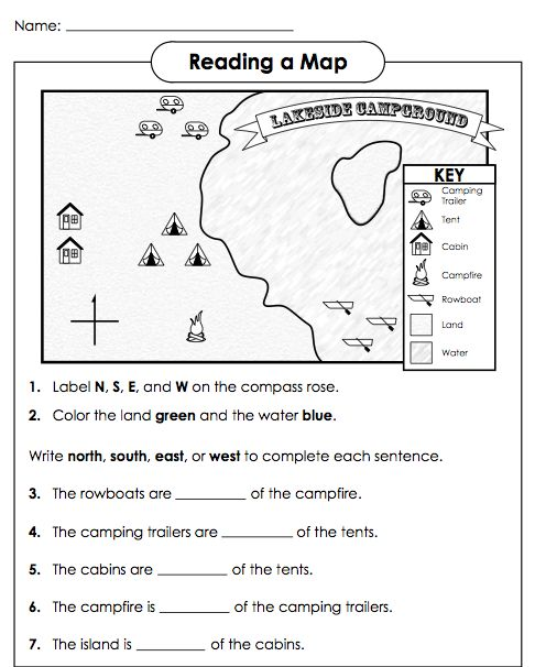 ... map printed for my : Cardinal Directions Worksheet For Kindergarten
