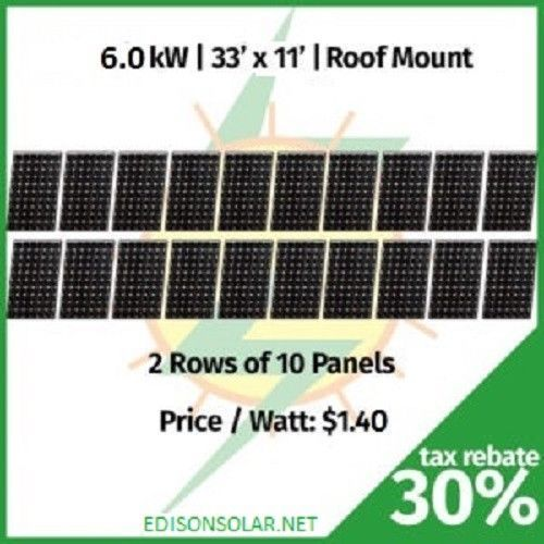 Details About New 6000 Watt 6kw Grid Tie Home Solar Panel Kit