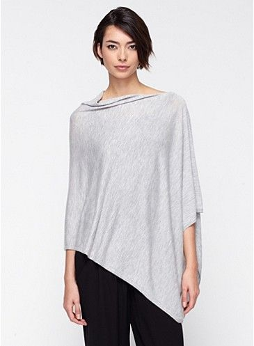 Poncho in Featherweight Cashmere