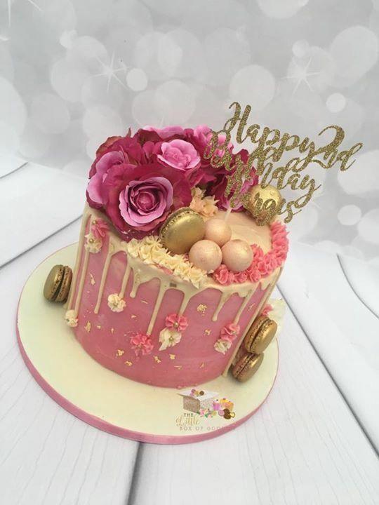 Fantastic Floral Drip Birthday Cake 25Th Birthday Cakes 35Th Birthday Funny Birthday Cards Online Hetedamsfinfo
