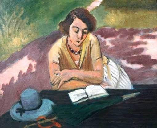 Leitora com guarda-sol, 1921 Henri Matisse ( França 1869-1954) óleo sobre tela Tate Gallery,  Londres