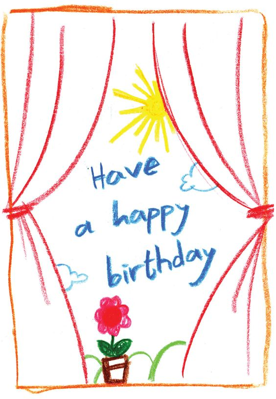 Child Drawing - Free Printable Birthday Card | Greetings Island