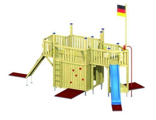 WINNETOO-Spielturm-Spielburg-mit-Rutsche-Feuerwehrstange-Piratenschiff-GP804