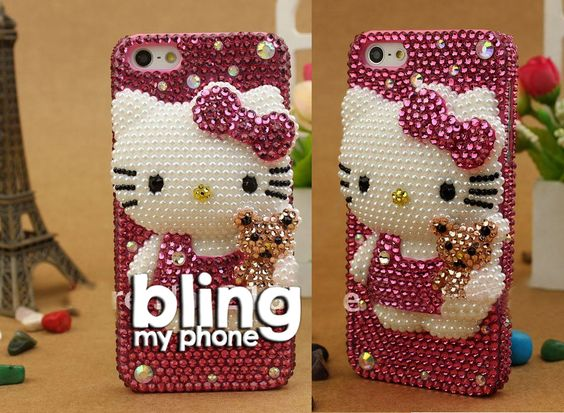 #handmade #iphone #samsung #mobile #phone #cases #phonecases check out http://www.facebook.com/BlingImports Rhinestone/Crystal/Diamond Hard phone Case - this Kitty model just £22 and post free - pre-orders yours via Facebook