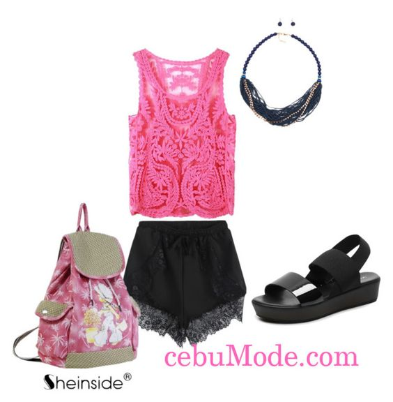 """Lace Shorts 9"" by cebumode on Polyvore"