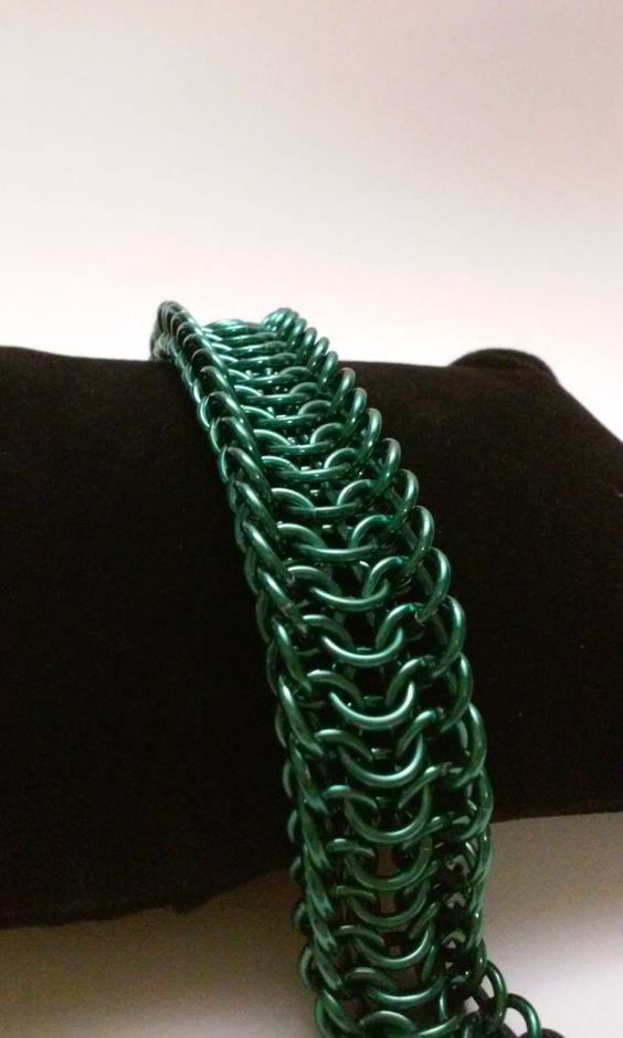 Alligator Back Chainmaille Bracelet by WickedlyChained on Etsy