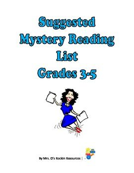This is a list of mysteries with summaries and authors that is appropriate for most 3-5 grades.  I usually place this on my homework site when stud...