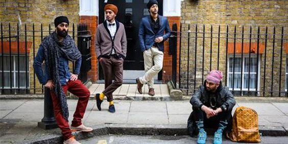 Homens de turbante