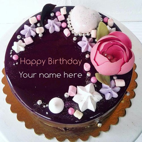 Wondrous Beautiful Chocolate Birthday Cake With Name On It Type Name On Funny Birthday Cards Online Aeocydamsfinfo