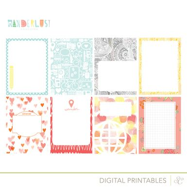 Picture of Wanderlust Printable Journal Cards