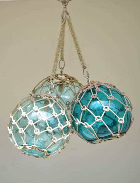 Coastal Lamps Inspired By Fishing Glass Floats Coastal Lamp Glass Floats Glass Fishing Floats