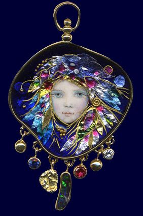 Stevie Nicks comes to mind. Mona & Alex Szabados Enamels (this is even more stunning in real life! LR):