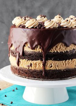 Brownie and cookie cake recipe