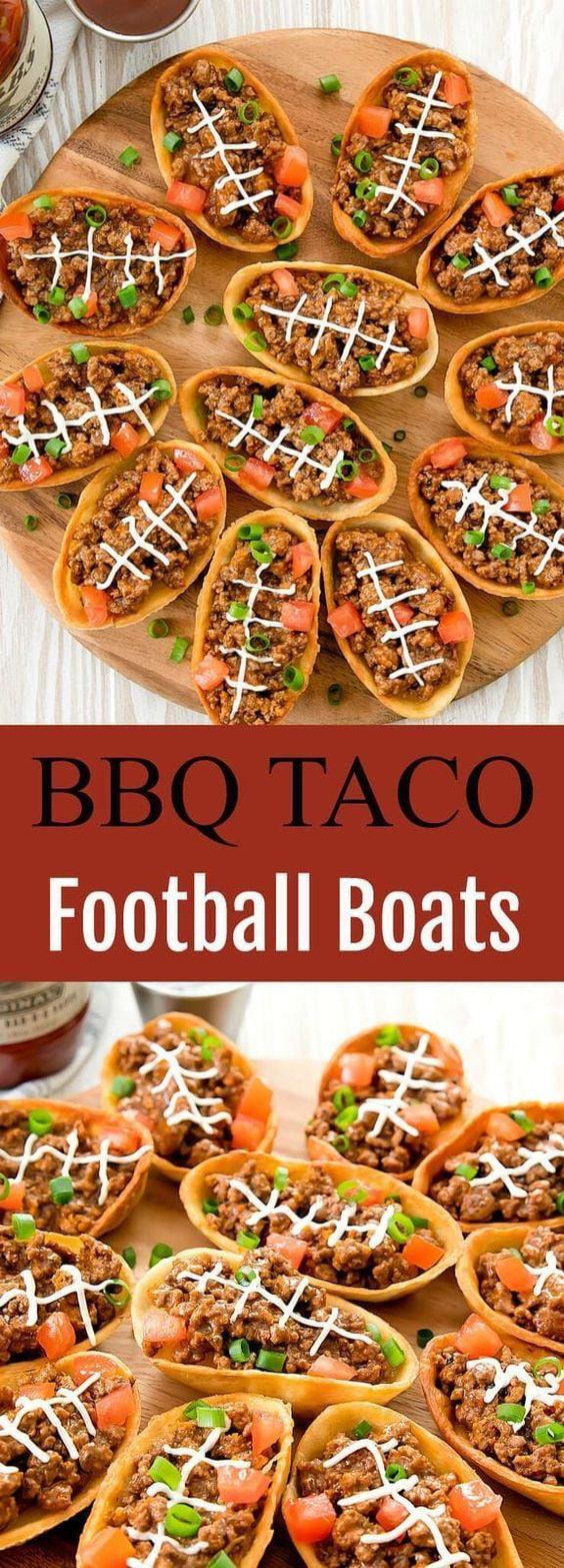 BBQ Taco Football Boats