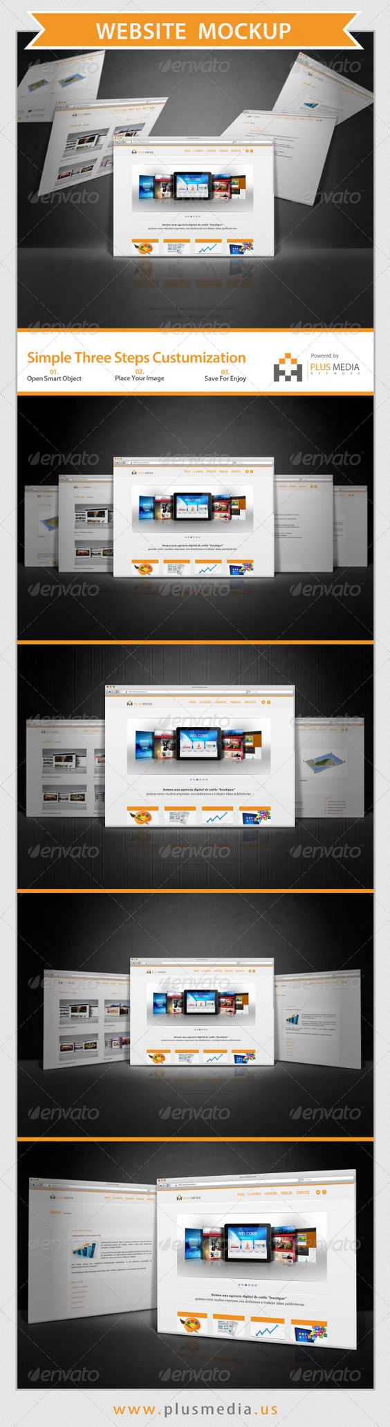 Inspiration for showing multi page websites
