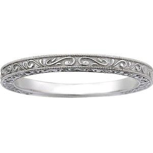 18K White Gold True Heart Ring, top view