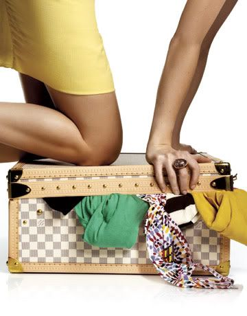 i would totally get LV luggage 1) if i could afford it 2) if i didnt think the airlines would F it up