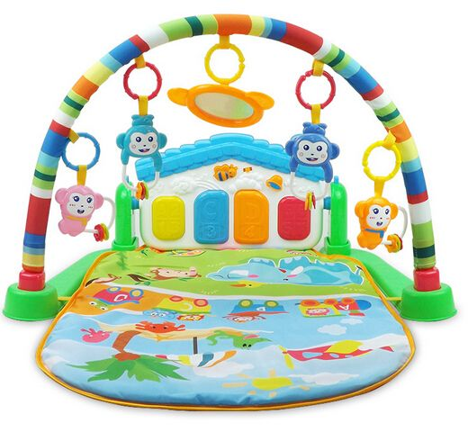 Activity Monkey Island Play Gym With Music And Lighting Keyboard Baby Toys Baby Learning Music For Kids