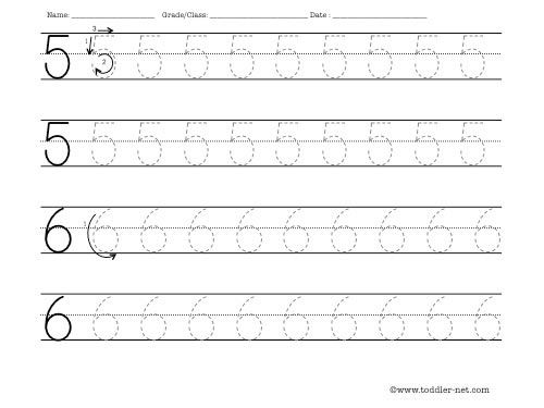 Tracing Numbers 5 And 6 Worksheet Tracing Worksheets Printing Practice Worksheets Handwriting Worksheets Free printing practice worksheets for