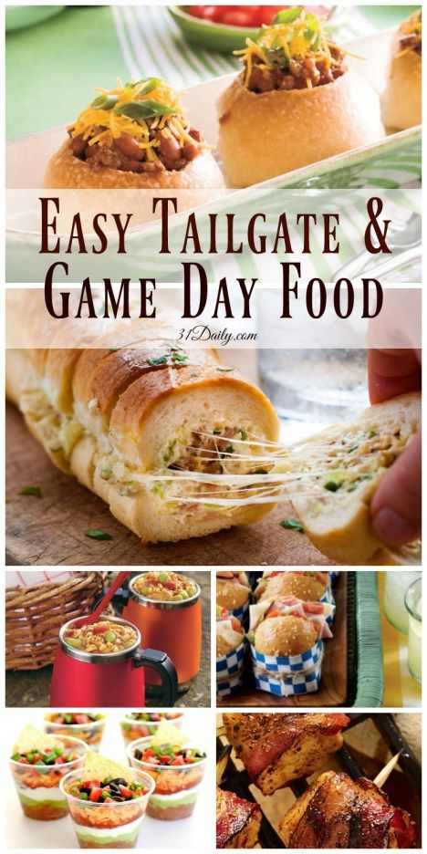 Quick and Easy Tailgating and Game Day Foods - 31 Daily
